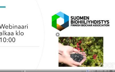 Biohiilivinkkejä Suomen Biohiiliyhdistyksen webinaaritallenteessa